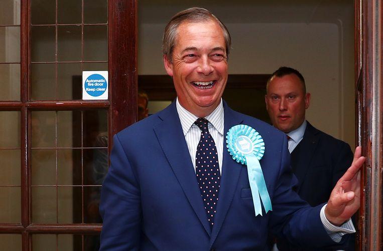 Partijleider van de Brexit Party Nigel Farage.