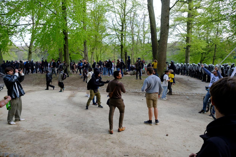 La Boum 2 in het Ter Kamerenbos op 1 mei. Beeld Photo News