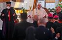 Toespraak van de paus in de kathedraal.