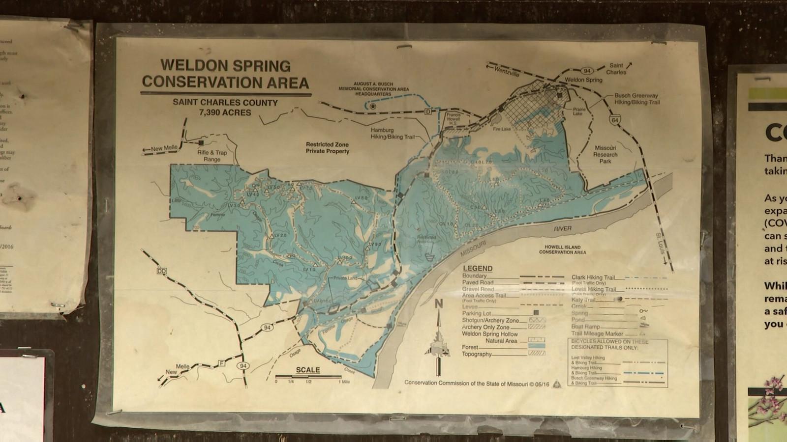 Beschermd natuurgebied Weldon Spring in Missouri, de Verenigde Staten.