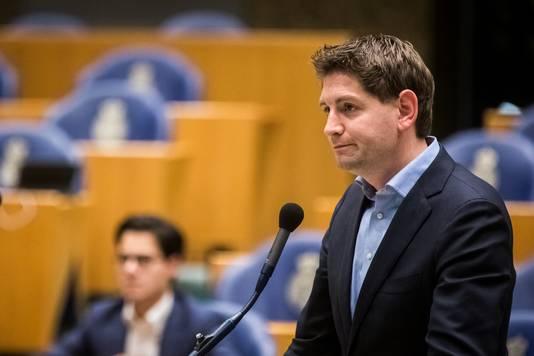 Kamerlid Jan Paternotte van D66 in de Tweede Kamer