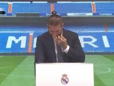 Les larmes de Sergio Ramos lors de ses adieux au Real Madrid