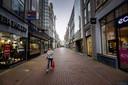 Sinds premier Rutte een nieuwe lockdown aankondigde is het rustig in het centrum van Amsterdam.
