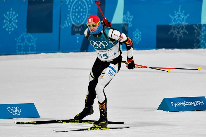 De Belgische biatleet Florent Claude in actie tijdens de Olympische Winterspelen begin dit jaar.
