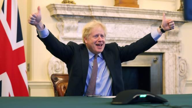 Britse premier Boris Johnson viert brexitdeal als overwinning