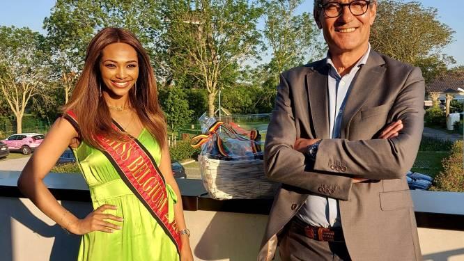 Miss België Kedist Deltour brengt Vleterse gemeenteraad een bezoek