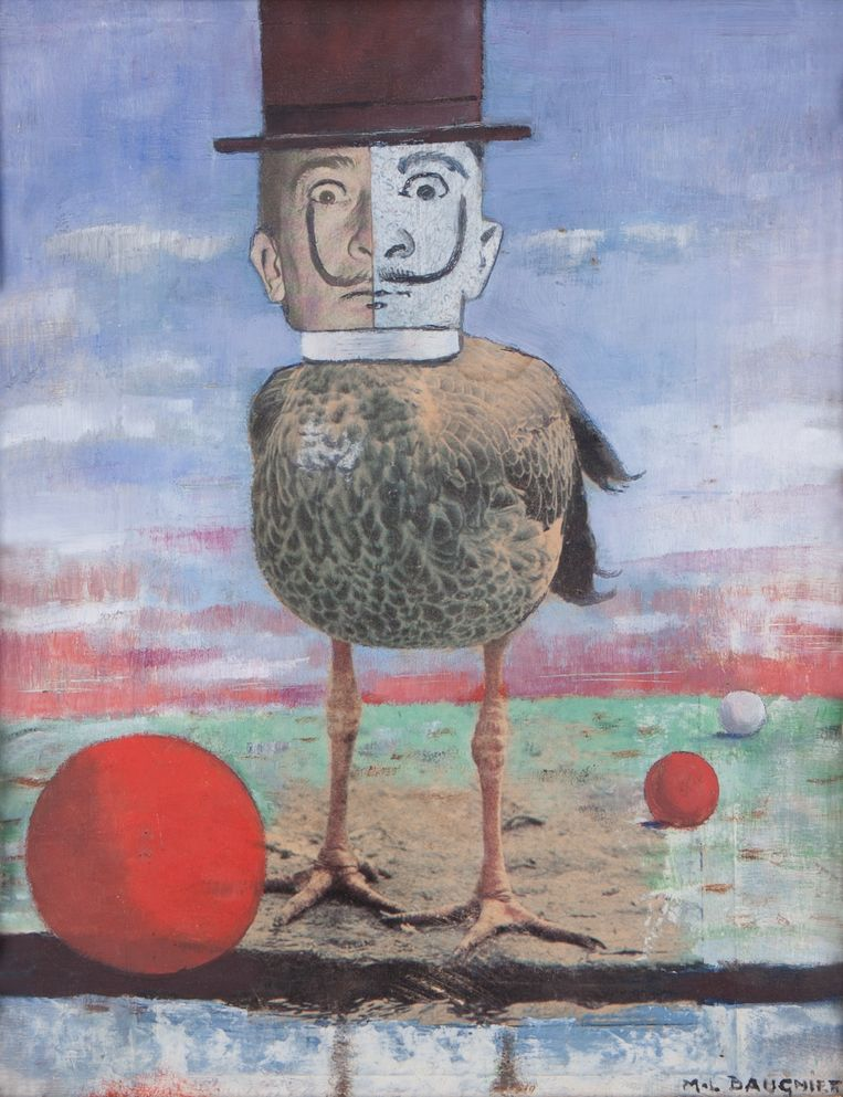 'Salvador Dalí', door Marcel-Louis Baugniet. Beeld Verbeke Foundation, foto Tineke Schuurmans.