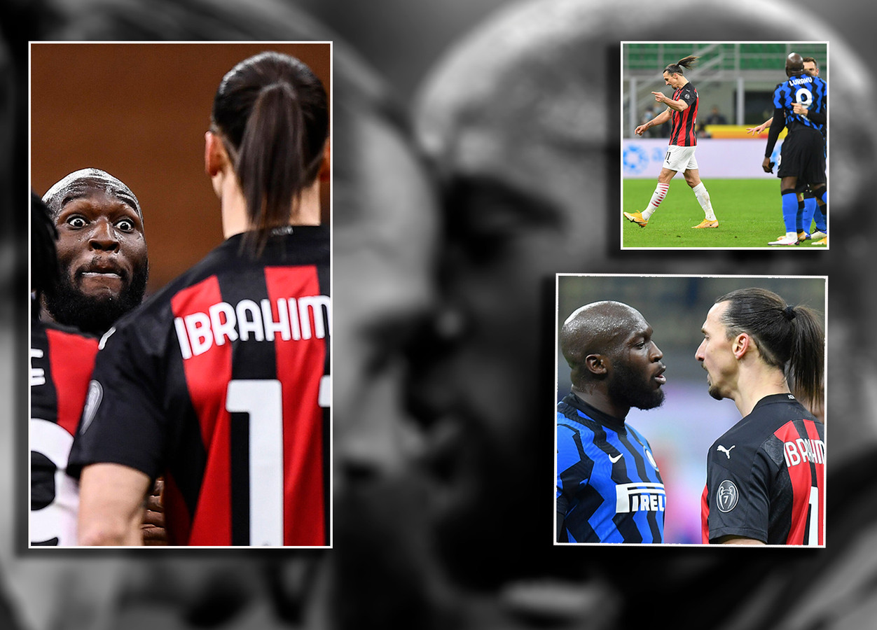 De 'strip' van de botsing tussen Zlatan Ibrahimovic en Romelu Lukaku.