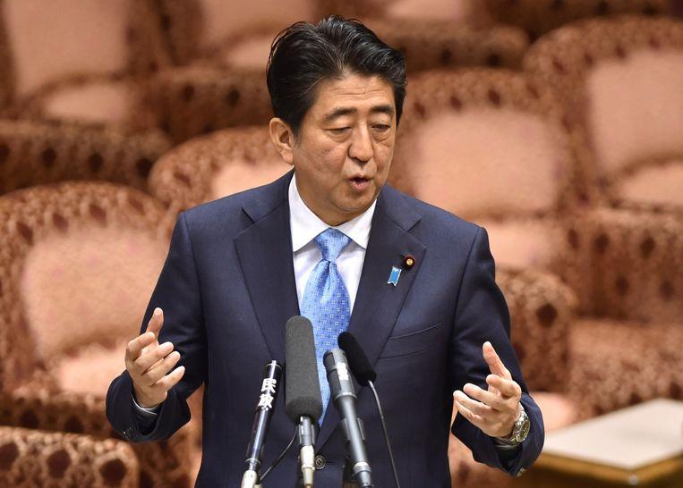 De Japanse premier Shinzo Abe. Beeld afp