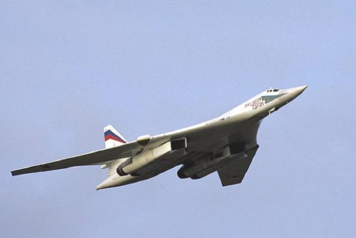 Een Tupolev-160 bommenwerper.