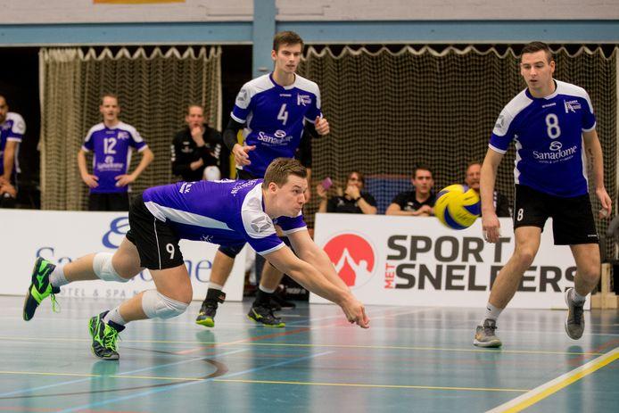 Archiefbeeld: de mannen van Vocasa spelen hun thuiswedstrijden in de eredivisie in Neerbosch-Oost. Dat zal voorlopig zo blijven. De club verhuist niet naar een nieuwe hal in Nijmegen-Noord.