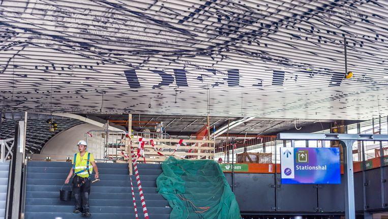 Het nieuwe station in Delft Beeld anp