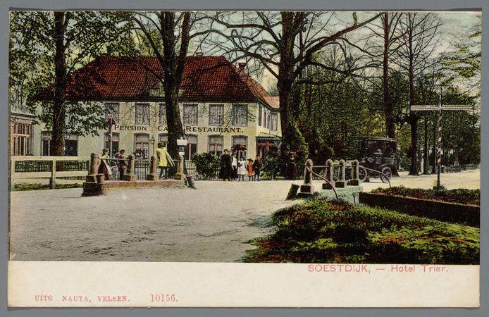 Hotel Trier rond 1905 op een ingekleurde ansichtkaart.