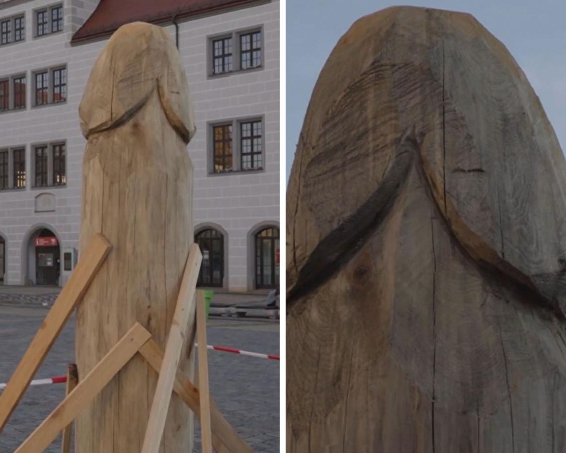 Cette sculpture de 2 mètres de haut ne passe pas inaperçue en Allemagne.