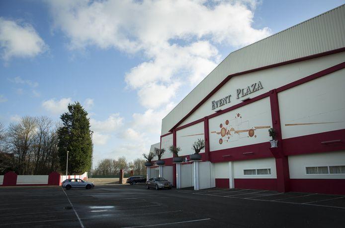 De buitenkant van Event Plaza in Rijswijk waar het evenement plaats zou gaan vinden.