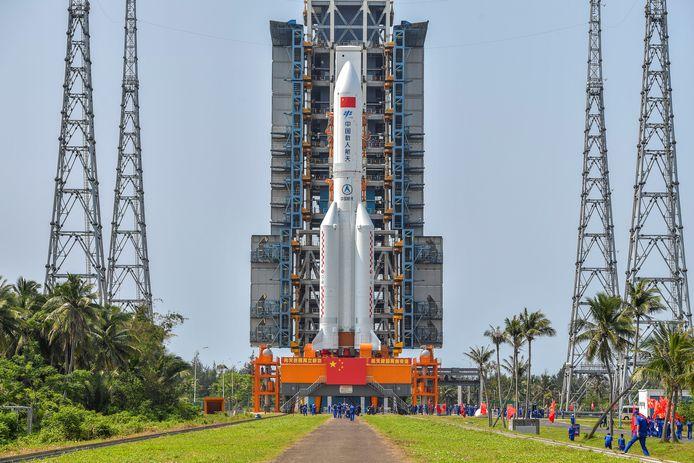 De raket voor lancering.
