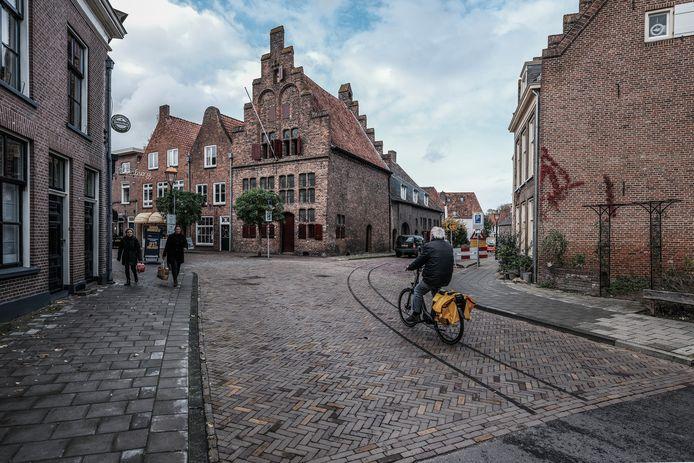 De tramrails is terug in Doesburg.