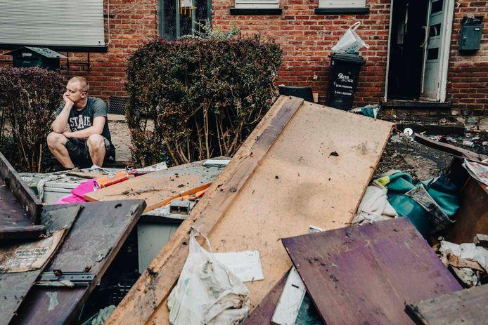 Archiefbeeld van de schade na de overstromingen in Pepinster.