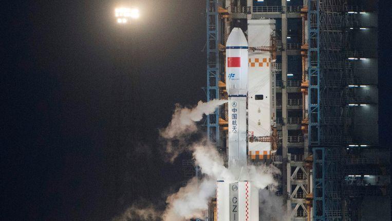 Het Chinese ruimtestation Tianzhou-1.