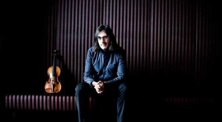 Leonidas Kavakos is in Nederland om een streamingconcert van het Rotterdams Philharmonisch Orkest te  dirigeren. Beeld Marco Borggreve