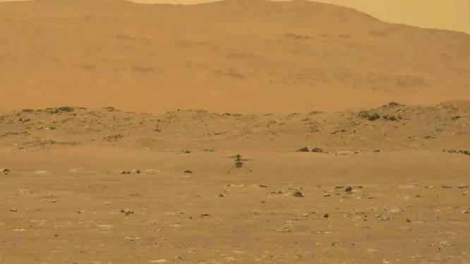 Historische vlucht van NASA-helikopter Ingenuity op Mars geslaagd