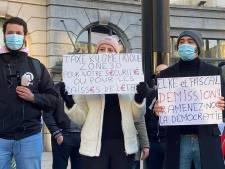 """""""Elke et Pascal démission"""": manifestation contre la taxe kilométrique à Bruxelles"""