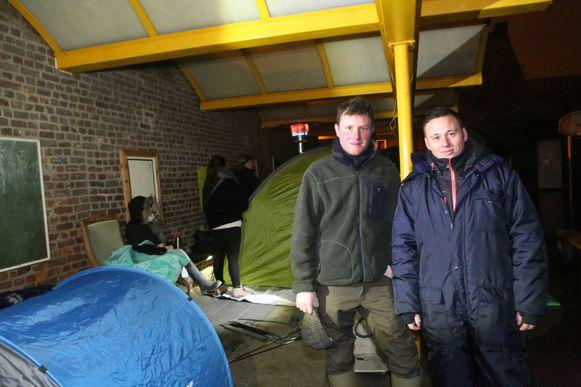 TIENEN - Maarten Uyttebroeckx en Wesley Pittomvils slaan hun tentje op