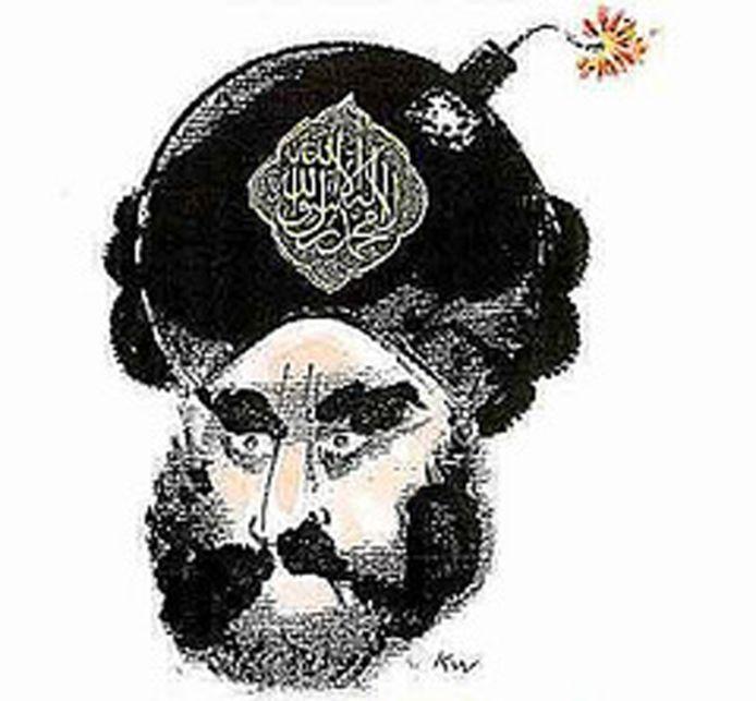 De veelbesproken Mohammed-cartoon.