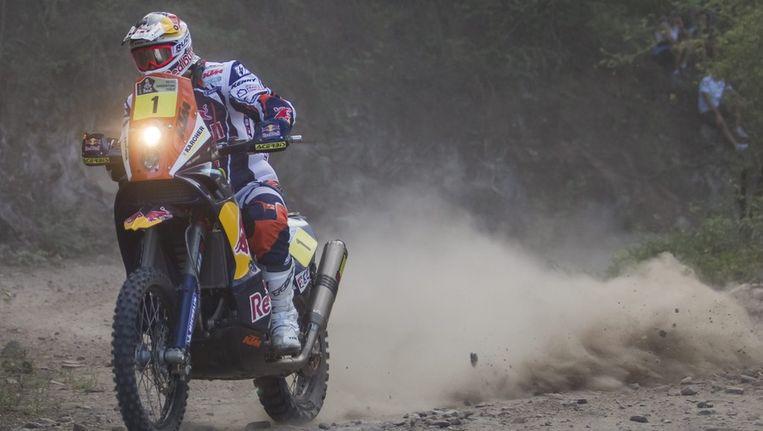 Cyril Despres won de negende etappe. Beeld EPA