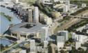 In het plan van Feyenoord City verbindt De Strip de oude Kuip met het nieuwe stadion aan de Maas