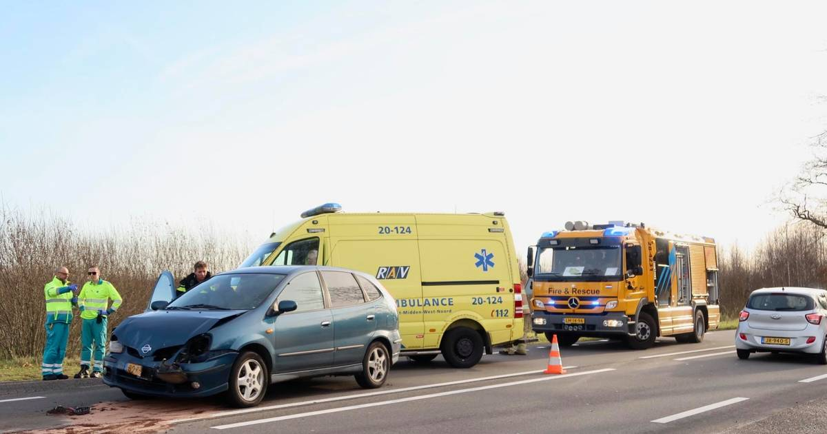 Twee gewonden bij kettingbotsing in Hulten.