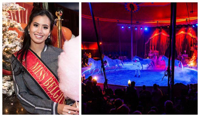 Ook Miss België Angeline Flor Pua was van de partij op de première van 'Follow The Star' van Circus Boxtalino.