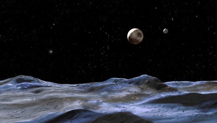 Iedereen kon zijn stem uitbrengen om Pluto's oppervlaktestructuren nieuwe namen te geven. Beeld © NASA/esa
