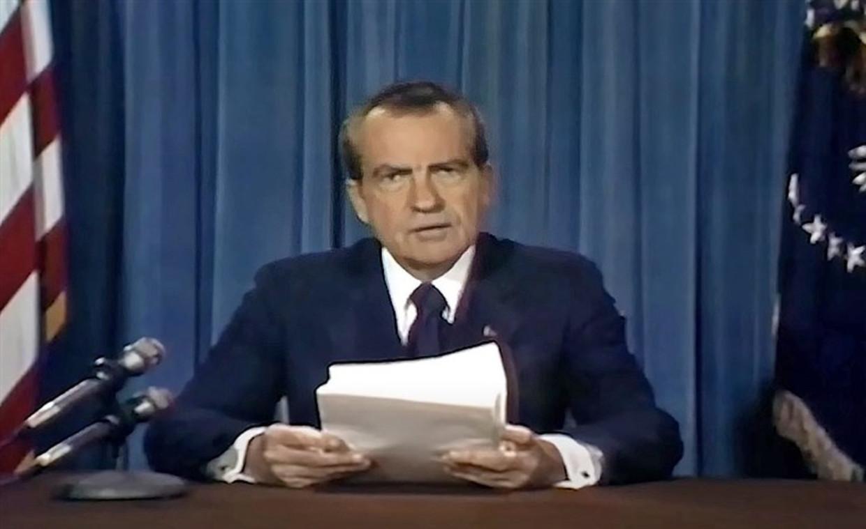 Richard Nixon in 'In Event of Moon Disaster'. Beeld rv