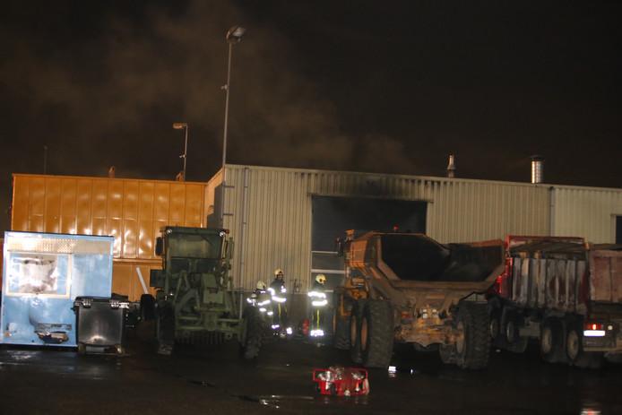 Brand in bedrijfspand Ertveldweg Den Bosch