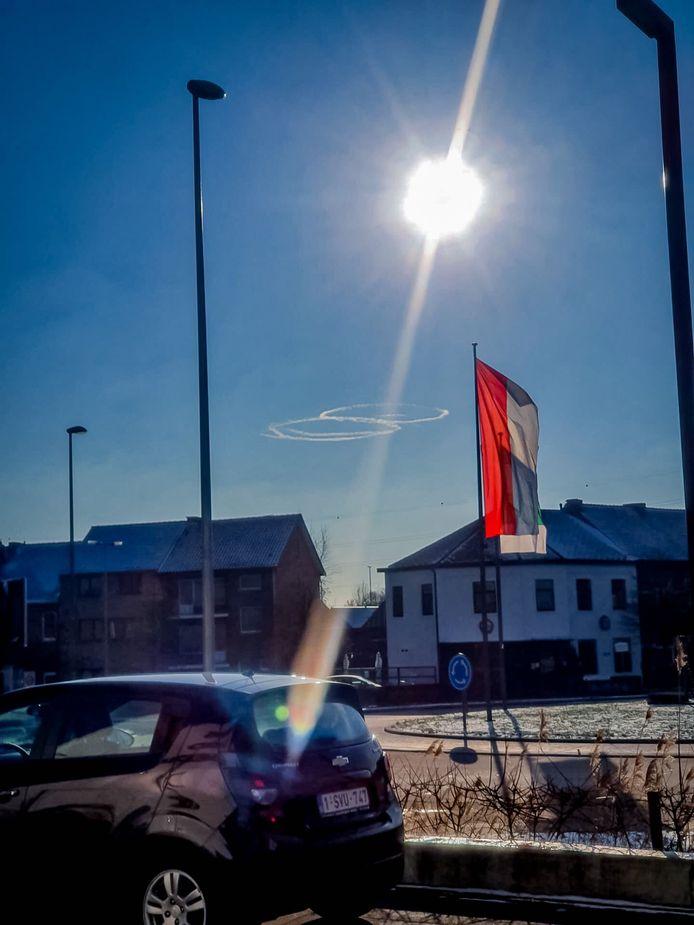 De cirkels van de straaljagers werden ook in Limburg gespot.