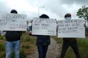 Eerder demonstreerden arbeidsmigranten bij de grootste slachterij van Nederland in Boxtel. Ze willen veilige omstandigheden omdat veel werknemers corona krijgen.