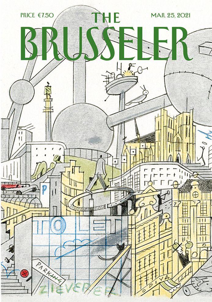 Brussel in meer dan 100 tijdschriftcovers: illustratoren brengen hulde aan hoofdstad en The New Yorker. (Ever Meulen)