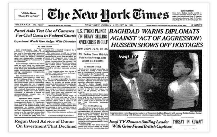 Een krantenartikel in The New York Times over Stuart Lockwood. Beeld The New York Times