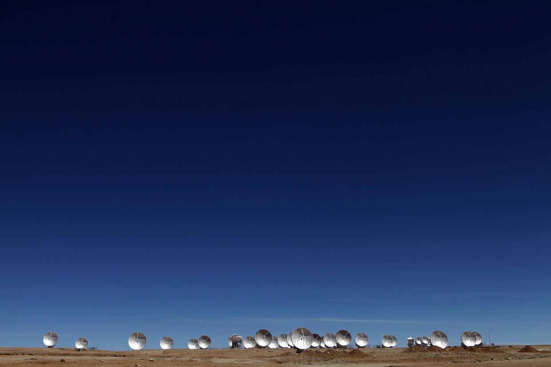 De Atacama Millimeter Array (ALMA) in Chili.