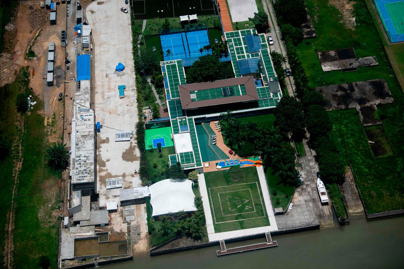 Het landgoed van Neymar in Mangaratiba.