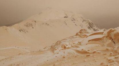 Bijzonder weerfenomeen in Oost-Europa: witte sneeuw kleurt oranje