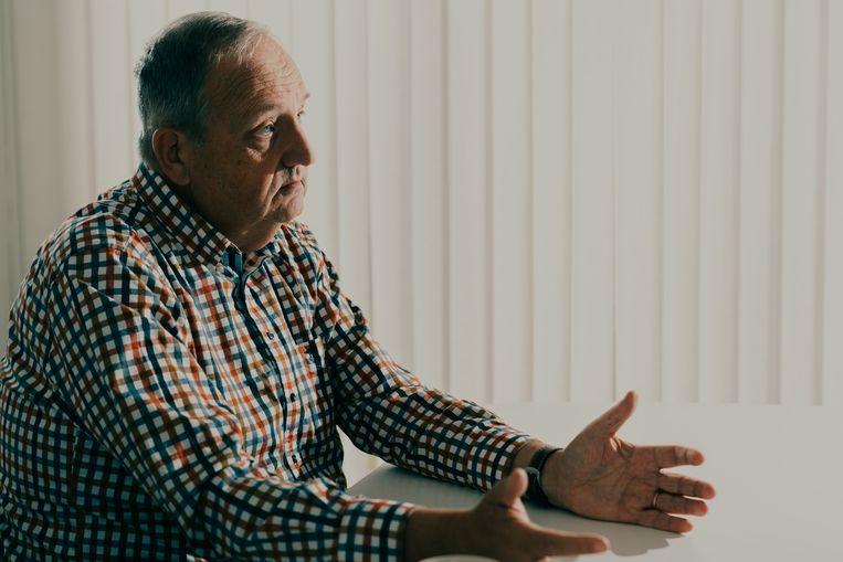 """Communicatie-adviseur Jan Callebaut: """"De kandidatuur van Walter De Donder is ontstaan uit een bezorgdheid vanuit het Pajottenland. Vergeet niet: dat is de rechteroever van de Dender."""" Beeld Illias Teirlinck"""