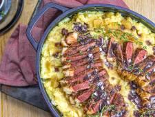 Wat Eten We Vandaag: Hete bliksem met entrecote en rode wijnsaus