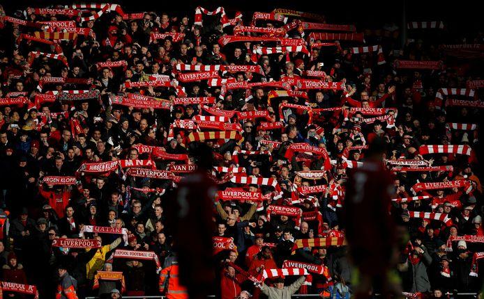 Fans op Anfield.