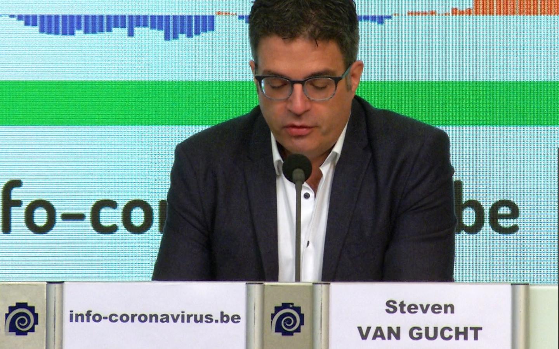 Viroloog Steven Van Gucht van Sciensano.