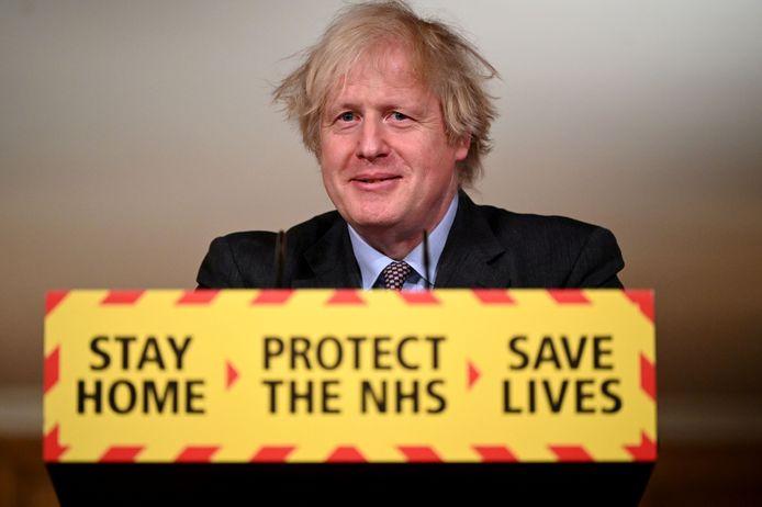 Boris Johnson, Premier ministre britannique.