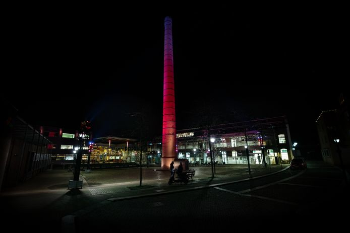 Centrum Hofdael bij nacht