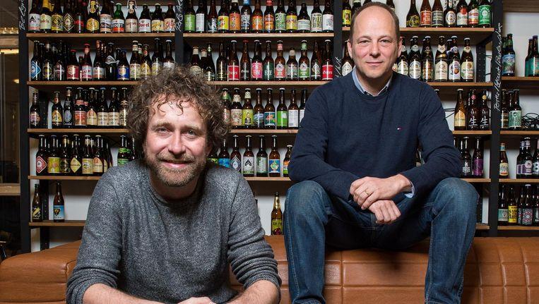 Marc Scholten (links) en Hans Böhm van Beerwulf. 'Het is voor Heineken een grote stap dat we hen niet vooropstellen' Beeld Mats van Soolingen