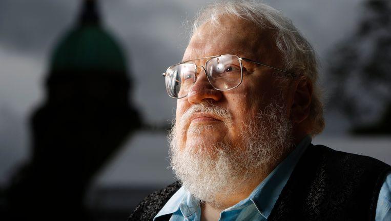 George RR Martin, de schrijver op wiens boeken Game of Thrones gebaseerd is. Beeld Photo News